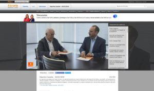 En la image, Domingo Álvarez, director de TVE con Gustavo Socorro, director y productor de Tardes de Gloria